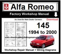 Alfa Romeo 145 Workshop Manual Download