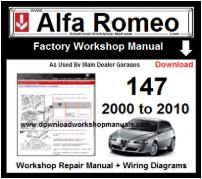 Alfa Romeo 147 Workshop Manual Download