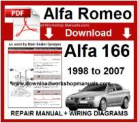 Alfa Romeo 166 Workshop Manual Download