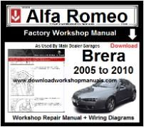 Alfa Romeo Brera Workshop Manual Download