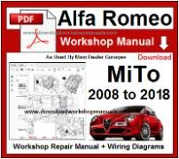 Alfa Romeo Mito Workshop Manual Download