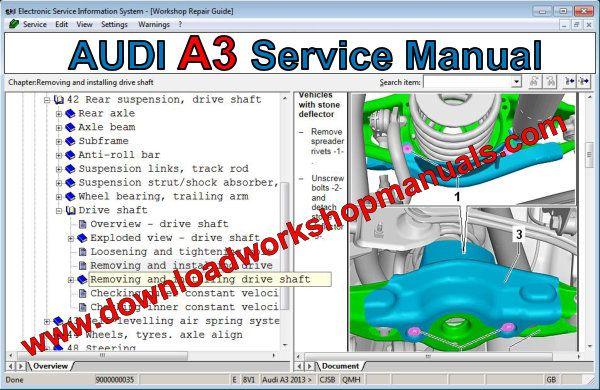 Audi A3 Service Repair Workshop Manual