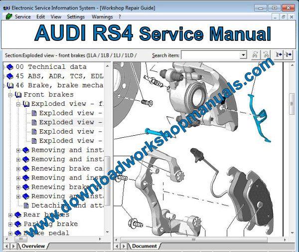audi rs4 workshop repair manual  download workshop manuals .com
