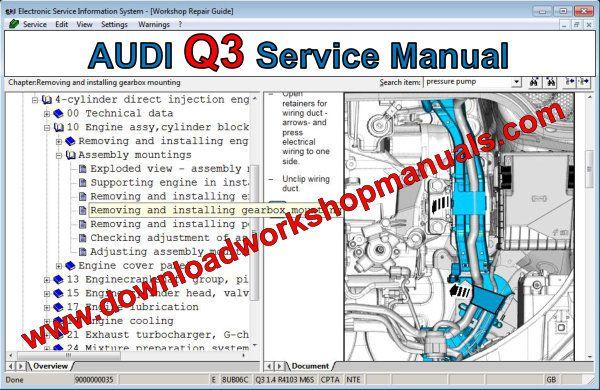 Audi Q3 Workshop Repair Manual