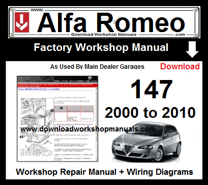 Alfa Romeo 147 Service Repair Workshop Manual Download
