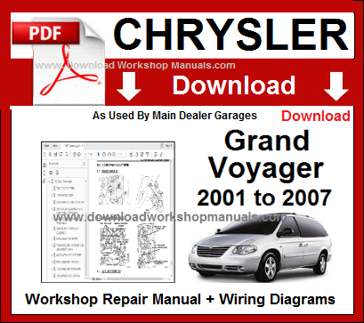 chrysler grand voyager workshop repair manual
