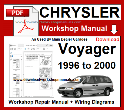 chrysler voyager workshop repair manual