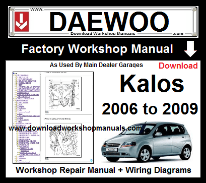 Daewoo Kalos Workshop Service Repair Manual Download