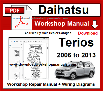 Daihatsu Terios Service Repair Workshop Manual
