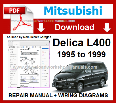 Mitsubishi Delicia L400 Workshop Manual