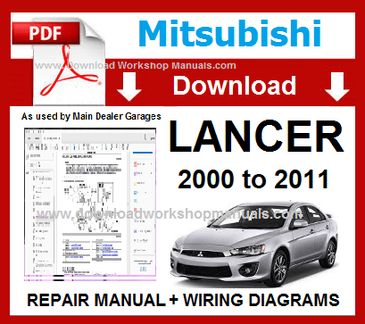 Mitsubishi Lancer Workshop Manual