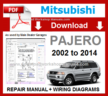Mitsubishi Pajero Workshop Manual