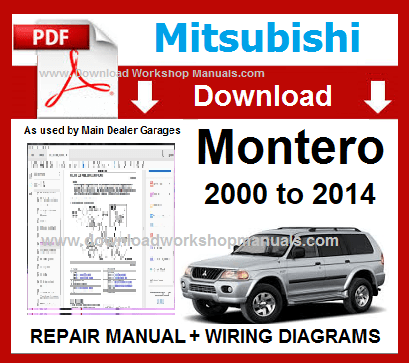 Mitsubishi Mpntero Workshop Manual
