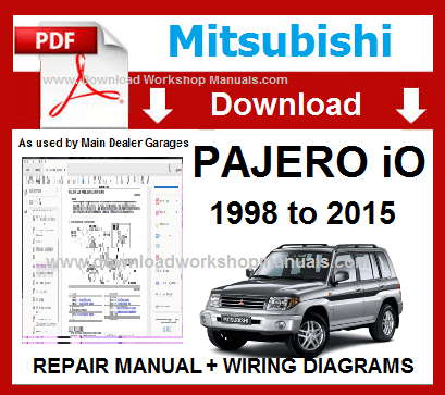 Mitsubishi Pajero io Workshop Manual