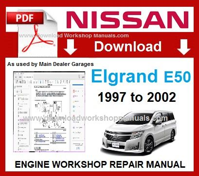 Nissan Elgrand E50 Workshop Repair Manual