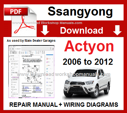 Ssangyong Actyon Workshop Service Repair Manual Download