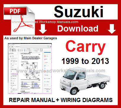 Suzuki Carry Service Repair Workshop Manual Download