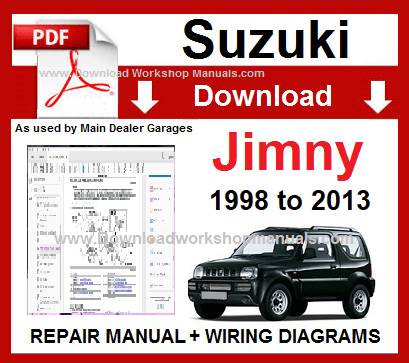 Suzuki Jimny Service Repair Workshop Manual Download