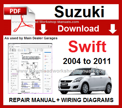 Suzuki Swift Service Repair Workshop Manual Download