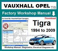 vauxhall tigra Workshop Manual Download