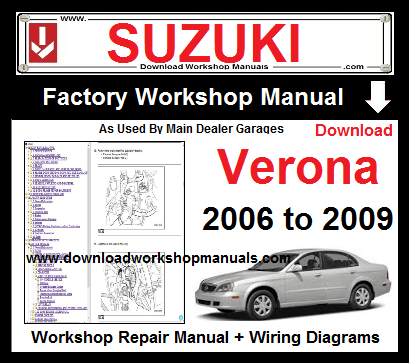 Suzuki Verona Service Repair Workshop Manual Download