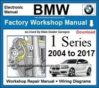BMW 1 Series Workshop Service Repair Manual Download