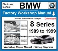 BMW 8 Series Workshop Service Repair Manual Download