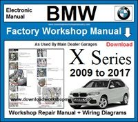 BMW X Series Workshop Service Repair Manual Download
