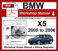 BMW x5 E53 PDF Workshop  Repair Manual 2000 to 2006
