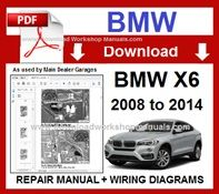BMW x6 E71 PDF Workshop Repair Manual 2008 to 2014