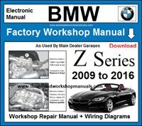 BMW Z Series Workshop Service Repair Manual Download