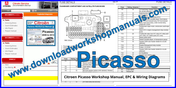 Citroen Picasso Workshop Repair Manual