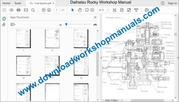 Daihatsu Rocky Workshop Repair Manual Download