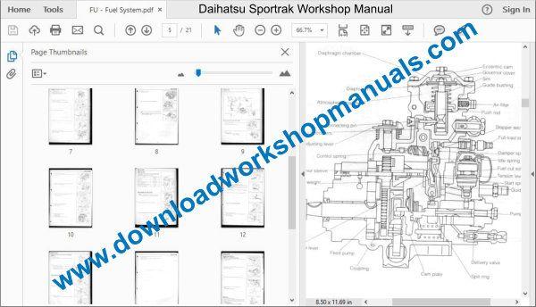 Daihatsu Sportrak Engine Diagram
