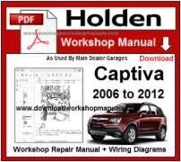 Holden Captiva Service Repair Workshop Manual Download