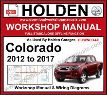 Holden Colorado Service Repair Workshop Manual Download
