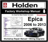 Holden Epica Service Repair Workshop Manual Download