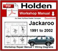 Holden Jackaroo Service Repair Workshop Manual Download