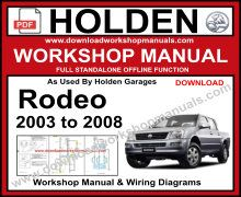Holden Rodeo Service Repair Manual