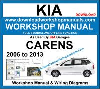 Kia Carens Service Repair Workshop Manual Download