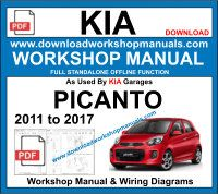 Kia Picanto Service Repair Workshop Manual Download