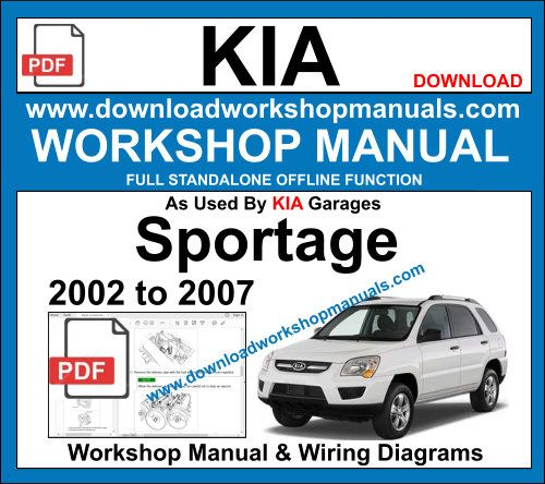 Kia Sportage Repair Service Workshop Manual Download