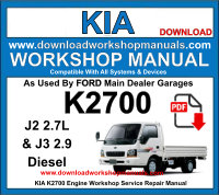 Kia K2700 J2 J3 Diesel Engine Workshop Repair Manual Download