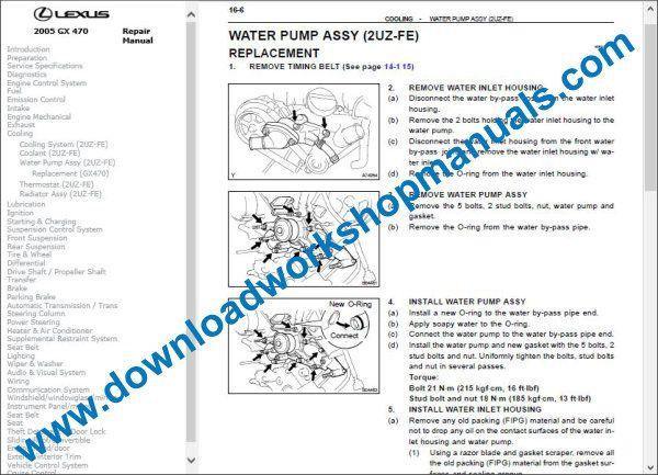 Lexus Gx 470 Service Repair Workshop Manual