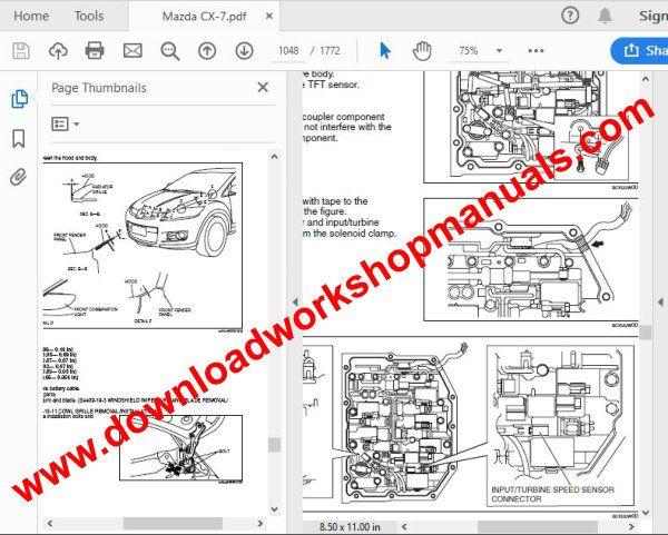 mazda cx 7 workshop repair manual  download workshop manuals .com