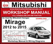 Mitsubishi Mirage Workshop Service Repair Manual