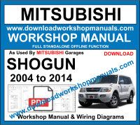 Mitsubishi Shogun service repair Workshop Manual