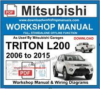Mitsubishi Triton L200 Workshop repair service Manual