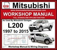 Mitsubishi L200 Workshop Service Repair Manual