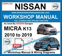 Nissan Micra K13 workshop service repair manual